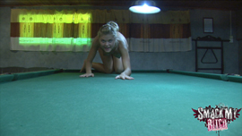 Sex on a pool table