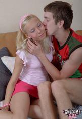 Pink panty teen has sex