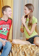 Pigtailed teen Sophia loves dick