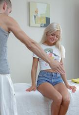 Erotic massage and hardcore thing embrace